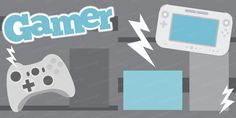 Teen Boy Scrapbook Page Layout - Video Games