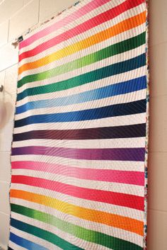 Ombre Strip Quilt | Flickr - Photo Sharing!