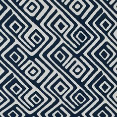 Nautical+Blue+Abstract+Multi+Purpose+Upholstery+Fabric