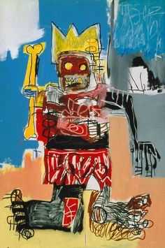 Untitled (Yellow Bone King) by Jean-Michel Basquiat on Widewalls. Browse more artworks by Jean-Michel Basquiat and auction records with prices and details of each sale! Keith Haring, Jean Basquiat, Jean Michel Basquiat Art, Pop Art, Sgraffito, Basquiat Paintings, Basquiat Artist, Basquiat Tattoo, Illustration Arte