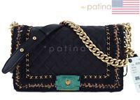 NWT 16K Chanel Black Le Boy Jacket Classic Flap, Medium Tweed Bag 61837