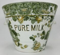 The Antique Dispensary Porcelain Ceramics, Ceramic Pottery, Milk Pail, Kitchen Items, Dairy, China, Display, Pure Products, Dining