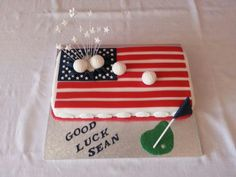 For a golfer off to usa on a scholarship.