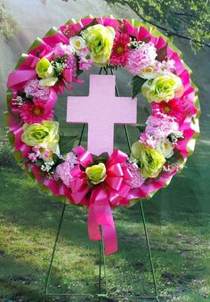 Your place to buy and sell all things handmade Grave Flowers, Cemetery Flowers, Funeral Flowers, Wreath Crafts, Flower Crafts, Wreath Ideas, Grave Decorations, Flower Decorations, Funeral Arrangements