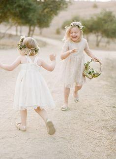 playful flower girls