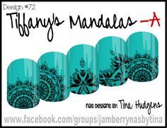 Jamberry NAS Design by Tina Hudgens, Design #72 Tiffany's Mandalas
