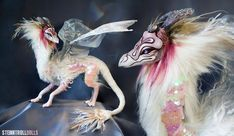 MADE TO ORDER One of a kind art doll fantasy creature mixed media sculpture (custom order, commission) Alien Creatures, Fantasy Creatures, Realistic Stuffed Animals, Dragon Dreaming, Mystical Animals, Robot Art, Robots, Mixed Media Sculpture, Found Object Art