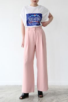 Pink Wide Trousers