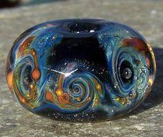 Galaxy 12 Handmade Boro Lampwork Glass Bead Focal by BurkhartBeads, $34.00