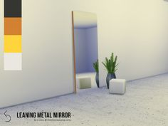 k-omu's Leaning Metal Mirror