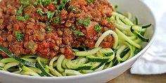 Zucchini Spaghetti with Easy Lentil Marinara #vegan