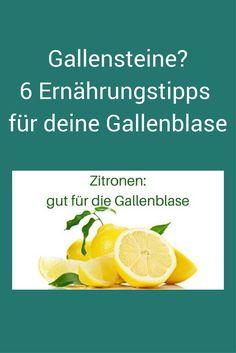Gallensteinen vorbeugen und kleine Gallensteine beseitigen - diese Nahrungsmittel helfen. #Gallensteine #Ernährungstipps