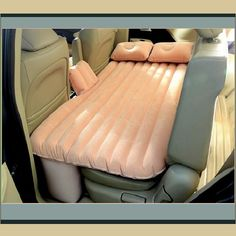 Coral Inflatable Backseat AirBed Mattress Fits Cars SUV & Trucks w/ Air Pump. Coral Inflatable Backseat AirBed Mattress Fits Cars SUV & Trucks w/ Air Pump Camping Toys, Camping Car, Camping Ideas, Auto Suv, Chaise Restaurant, Restaurant Tables, New Car Accessories, Camping Accessories, Jewelry Accessories