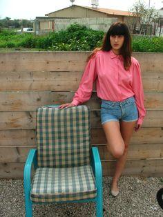 Womens shirt.shirt.Vintage Blouse.70's shirt.Vintage by shpirulina