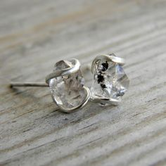 Herkimer Diamond and Recycled Sterling Silver by onegarnetgirl