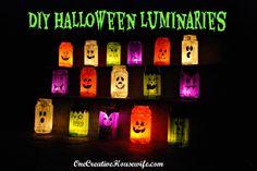 Painted Halloween Luminaries