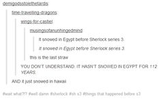 The newest installment of Things That Happened Before Sherlock Series 3