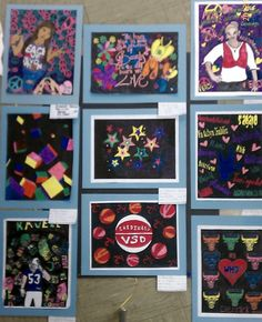 Color Wheel Projects- Markers by HS students