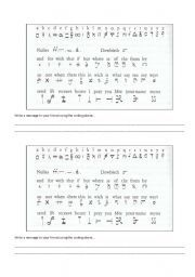 English worksheet: Mary Queen of Scots - Coded letters.