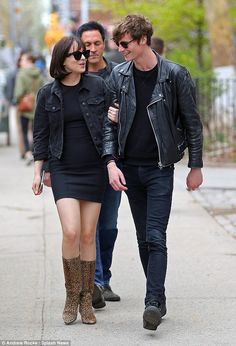 Together: Arm in arm as they walk along, Dakota Johnson send a clear message that it's bac...
