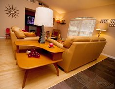 Sitting on a sofa on a Sunday afternoon by JennRation Design, via Flickr >> Love this arrangement for open floor plans.