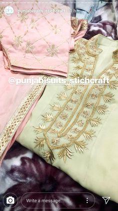 New Punjabi Suit, Designer Punjabi Suits Patiala, Patiala Salwar Suits, Salwar Suits Party Wear, Indian Salwar Suit, Indian Designer Suits, Indian Suits, Punjabi Suits Designer Boutique, Embroidery Suits Punjabi