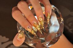 Gold nail art design