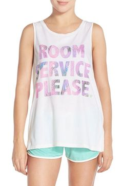 Junk Food 'Room Service Please' Cotton Tank