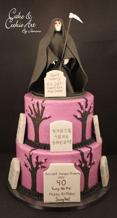 Grim Reaper theme cake