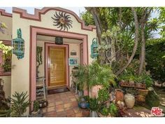 One of Dolly Parton's three California properties for sale - the entry way is welcoming.