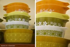 Vintage pyrex, color of the appliances when I was growing up