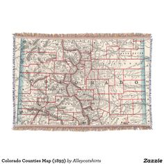 Vintage british empire world map 1886 throw blanket throw shop colorado counties map throw blanket created by alleycatshirts gumiabroncs
