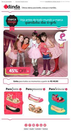 E-mail para base Vip divulgando a campanha da marca Pampili.