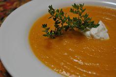 Butternut Squash soup... With pears, no cream.  Delish!