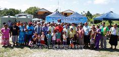 투발루에 물탱크를 전달한 장길자 회장님. 사랑가족걷기대회를 통해 기금을 마련했어요. 국경도 종교도 초월한 국제적인 글로벌복지단체. 위러브유가 자랑스러워요. 물탱크로 더욱 윤택한 삶을 살기를 바랄게요~