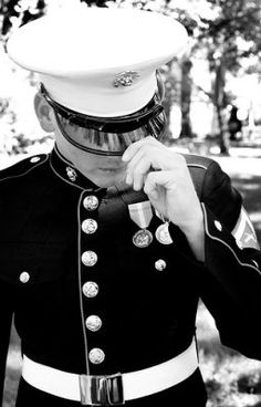 Men in uniform.. just can't help it!