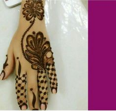 Arabic heena Finger Henna Designs, Unique Mehndi Designs, Henna Designs Easy, Mehndi Design Images, Beautiful Henna Designs, Latest Mehndi Designs, Mehndi Designs For Hands, Henna Tattoo Designs, Mehandi Designs