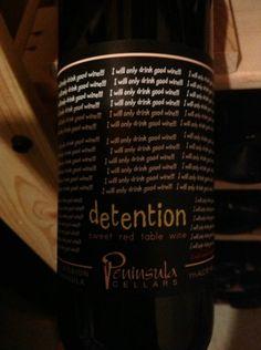 N.V. Peninsula Cellars Detention
