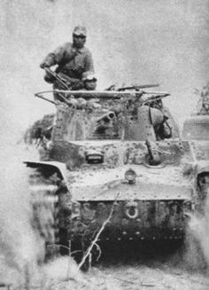 Japanese Forces - operation ichi-go - japanese tank advancing during the Battle of Guilin–Liuzhou(november 1944)