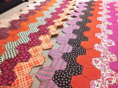 SLOstudio — Chicopee Hexie Quilt Update: I haven't posted...