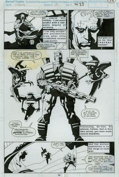 Original Art - X-Force #008 Pg 23 (1992) by Mike Mignola And Bob Wiacek