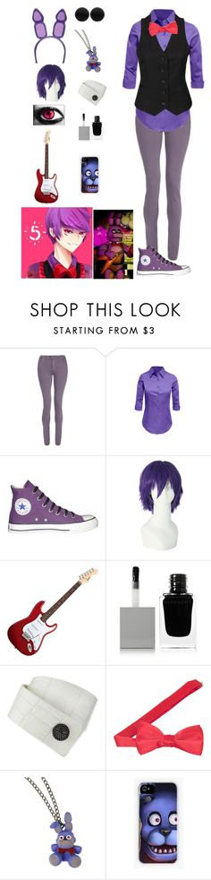 """FNAF: Bonnie"" by ender1027 ❤ liked on Polyvore featuring dVb Victoria Beckham, LE3NO, Neon Hart, Converse, Givenchy, KATIE Design, Thomas Sabo and Freddy"