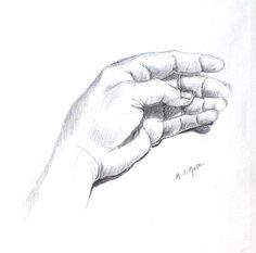 hand drawings | This is a charcoal drawing of my thumb touching my ring finger.