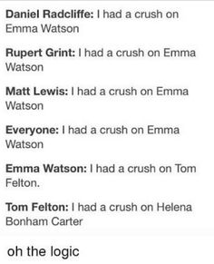 Whats wrong with you Tom?  #Dramione #Tomfelton #Emmawatson #HarryPotter