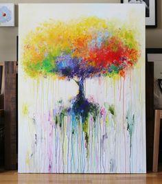 peinture abstraite peinture acrylique contemporaine par artbyoak1