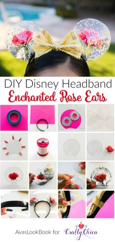 Ears: Enchanted Roses for Beauty and the Beast How to make Enchanted Rose Mickey Ears inspired by Beauty and the Beast! Meagan mora for .How to make Enchanted Rose Mickey Ears inspired by Beauty and the Beast! Meagan mora for . Diy Disney Ears, Disney Mickey Ears, Diy Mickey Mouse Ears, Disney Bows, Micky Ears, Disney Babies, Disney Shirts, Do It Yourself Jewelry, Do It Yourself Fashion