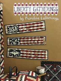 love the flags and the cute mini quilt in the right corner.
