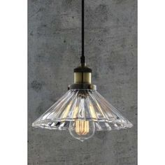 Yves Vintage Glass Pendant Light