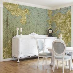 Vliestapete - Floraler Barock - Fototapete Breit