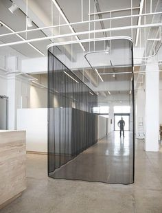 Office Space Design, Workplace Design, Partition Screen, Retail Interior Design, Space Dividers, Open Office, Office Workspace, Commercial Interiors, Office Interiors